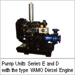 Pump Units Series E and D with the type VAMO Diesel Engine